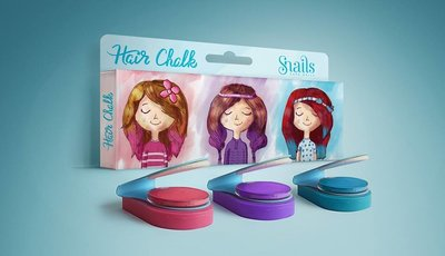 Snails haarkrijt, set van 3 kleuren