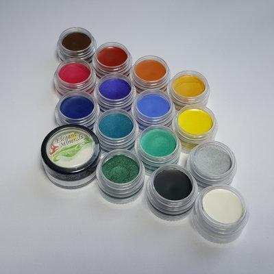Elegant Minerals vegan natuurlijke vetschmink,  15 kleuren MET fixeerpoeder