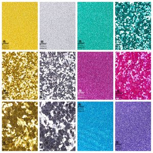 EGW Eco-glitter Sparkle set van 12 kleuren