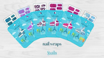 Snails nail wraps nagelstickers